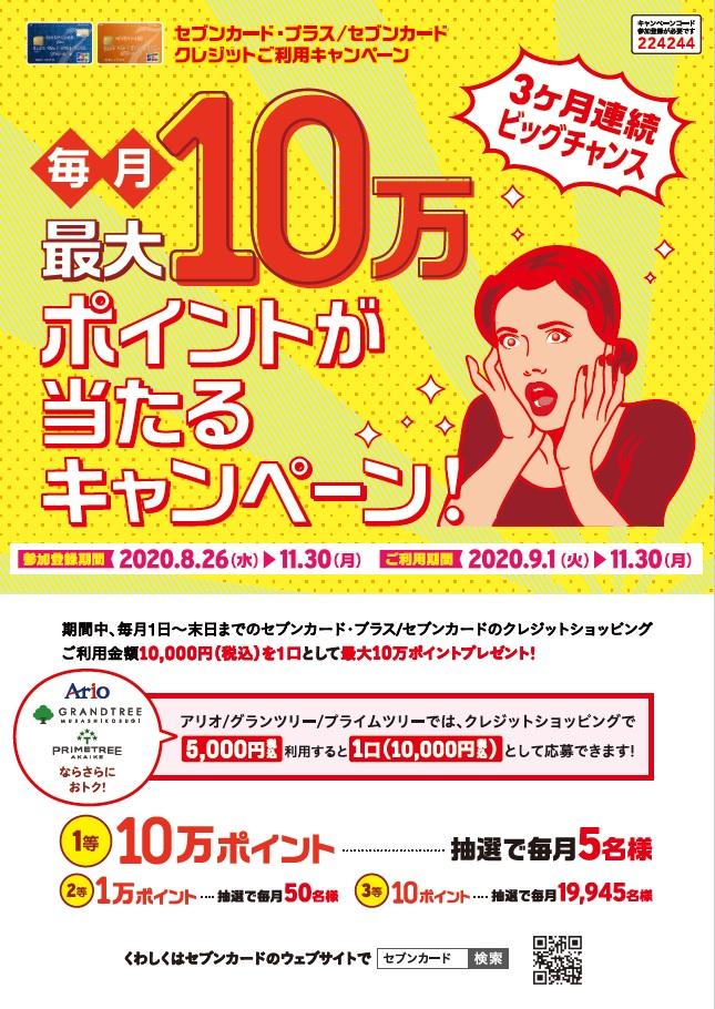 セブンカード・プラス/セブンカード クレジットご利用キャンペーン
