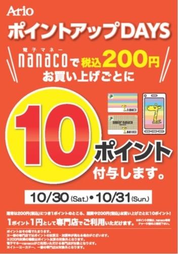 10.30_10.31_nanaco10倍