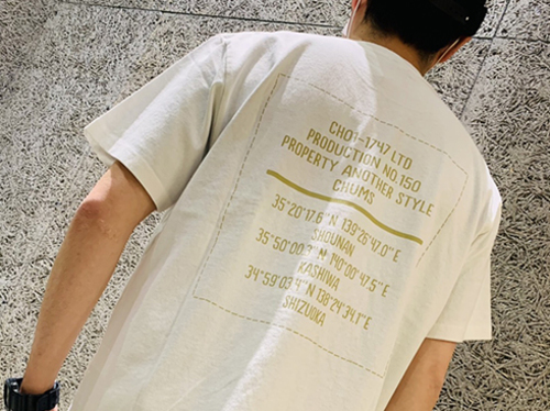 CHUMS×AS Coordinate T-Shirt