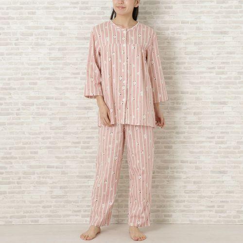 ダブルガーゼ7分袖パジャマの画像
